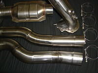 stainless steel downpipe with internal wastegate. $749 ($800 with cat)